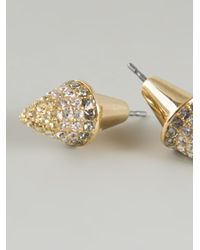 Eddie Borgo - Metallic Cone Earrings - Lyst