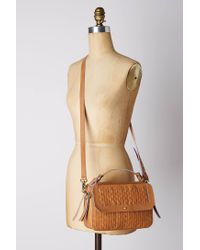 Anthropologie | Brown Woven Leather Camera Bag | Lyst