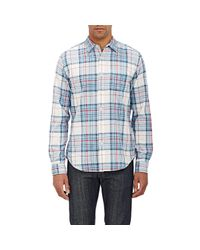 Alex Mill - Black Men's Plaid Shirt for Men - Lyst