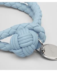Bottega Veneta - Blue Ciel Intrecciato Nappa Bracelet - Lyst