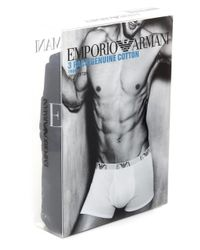 Emporio Armani | Black Three Pack Of Boxers for Men | Lyst