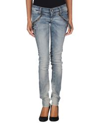 Miss Sixty | Blue Denim Trousers | Lyst