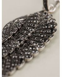 Garrard | Black Diamond Wing Earrings | Lyst