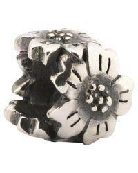Trollbeads | Metallic Sterling Silver Sakura Charm | Lyst