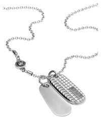 DIESEL | Metallic Necklace Dx0834 for Men | Lyst