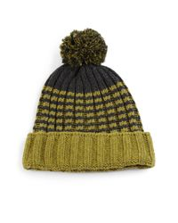 Gucci - Green Knit Wool Pom-pom Hat - Lyst