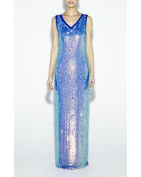 Nicole Miller - Blue Glitterati Gown - Lyst
