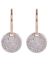 Monica Vinader - Metallic Rose Gold Vermeil Diamond Ava Drop Earrings - Lyst