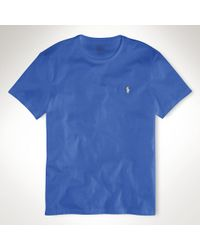 Polo Ralph Lauren - Blue Custom-fit Jersey T-shirt for Men - Lyst