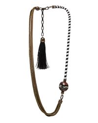 Lanvin | Brown Long Braided Chain Necklace | Lyst