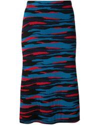 Jil Sander Navy - Blue Jacquard Knit A-line Skirt - Lyst