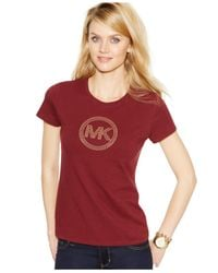 Michael Kors | Purple Michael Circle Logo Tee | Lyst