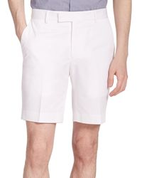 Ralph Lauren Black Label | White James Stretch Twill Shorts for Men | Lyst