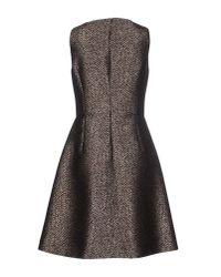 Michael Kors - Brown Short Dress - Lyst