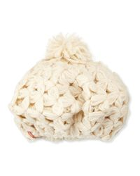 Nobis - Natural Boo Boo Beret Hat W/ Pom Pom - Lyst