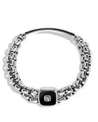 David Yurman - Metallic Exotic Stone Wide Id Bracelet with Black Onyx for Men - Lyst