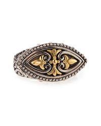 Konstantino - Metallic Silver & 18k Gold Diamond Marquise Ring - Lyst