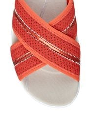 Easy Spirit | Red Beach Slip-on Wedge Platform Sandals | Lyst