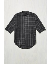 Assembly - Blue Noncollar Button-down Shirt for Men - Lyst