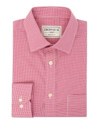 Howick | Pink Edison Small Gingham Shirt for Men | Lyst