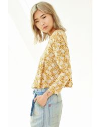 Kimchi Blue | Brown Canyon Popover Top | Lyst