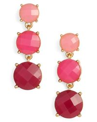 kate spade new york - 'smell The Roses' Linear Drop Earrings - Bright Pink Multi - Lyst