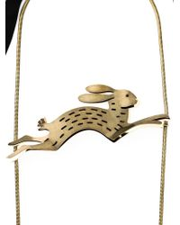 Lanvin - Metallic Rabbit Necklace - Lyst