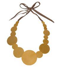 Herve Van Der Straeten - Metallic Goldplated Pailettes Necklace - Lyst