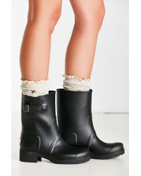 HUNTER - Black Original Ankle Boot - Lyst