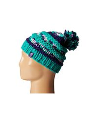 The North Face | Blue Nanny Knit Beanie | Lyst