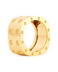 Roberto Coin | Metallic Pois Moi Two-row Diamond Ring | Lyst