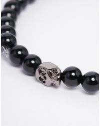 Simon Carter - Black Onyx Cross Bracelet In 2 Pack for Men - Lyst