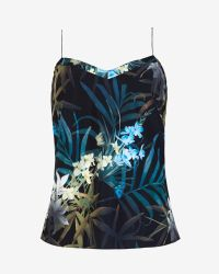 Ted Baker - Black Cynaria Printed Scallop Edge Camisole - Lyst