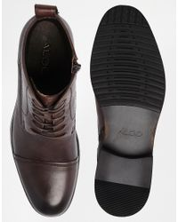 ALDO - Brown Military Boots for Men - Lyst