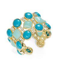 ABS By Allen Schwartz | Blue Glitz Open Cuff Bracelet | Lyst