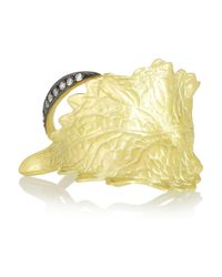 Ana Khouri | Metallic Infusion Leaf 18karat Gold Diamond Ring | Lyst