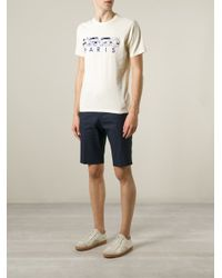 KENZO - Yellow ' Paris' T-Shirt for Men - Lyst