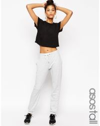 ASOS - Gray Tall Lightweight Joggers With Contrast Tie - Lyst