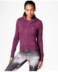 PUMA | Purple Restore Zip-front Hoodie | Lyst