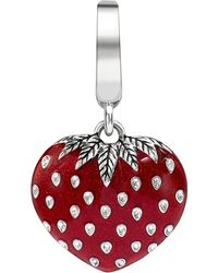 Theo Fennell | Sterling Silver And Red Enamel Art Charm - For Women | Lyst