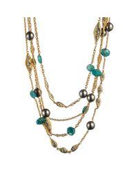 Alexis Bittar - Metallic Mosaic Multi Strand Necklace - Lyst
