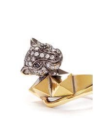 Iosselliani - Metallic Crystal Pavé Panther Ring - Lyst