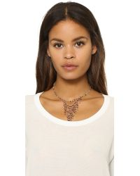 Ela Rae | Red Double Fringe Necklace - Ruby | Lyst