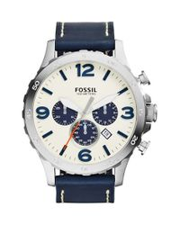 Fossil | Blue 'nate Ip' Chronograph Watch for Men | Lyst