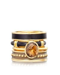 Astley Clarke - Black Turkish Coffee Enamel Ring - Lyst