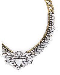 BaubleBar - Metallic Crystal Trillion Collar - Lyst