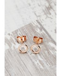 Forever 21 | Pink Shashi Circle Studs | Lyst