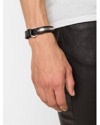 Werkstatt:münchen   Black Silver Curved Bar Bracelet   Lyst