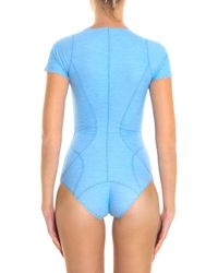 Lisa Marie Fernandez - Blue Farrah Denim Maillot Swimsuit - Lyst