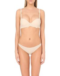 Stella McCartney | Pink Stella Smooth Jersey And Lace Bikini Briefs | Lyst